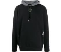 Global logo print hoodie