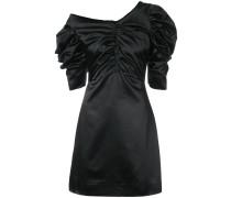 Einschultriges Kleid mit Raffungen
