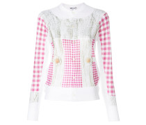 checked buttoned up sweater