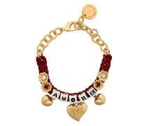 "Gewebtes Armband mit ""Amore""-Schriftzug"