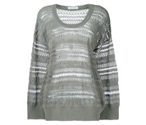 panelled oversized sweater