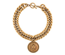 medallion chunky chain necklace
