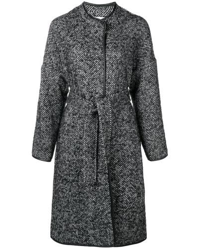 patterned belted Barile coat