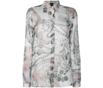 dragon sketch printed shirt