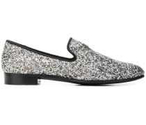 glitter loafers