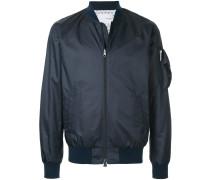 Shibori reversible bomber jacket