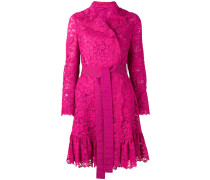 belted lace coat