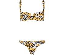 'Brigitte' Bikini mit Tiger-Print