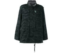 Oversized-Jacke mit Camouflage-Print