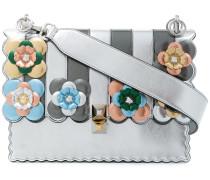 'Kan I' Handtasche mit Blumen-Applikationen