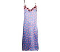floral-print slip dress