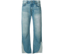 Gerade Jeans mit Cut-Outs
