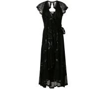 sequinned frill trim dress