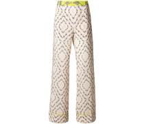 safari printed flared trousers
