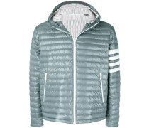 4-Bar Stripe Satin Finish Quilted Down-Filled Tech Jacket