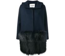 fur detail hooded coat