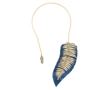Conceito suede panel necklace