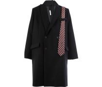 Mantel mit karierter Krawatte