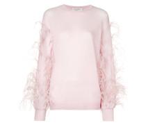 Pullover mit Straußenfedern