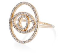 diamond circle evil eye ring