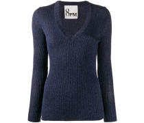 Gerippter Metallic-Pullover