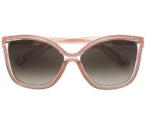 oversized gradient lens sunglasses