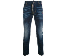 Schmale 'Skater' Distressed-Jeans