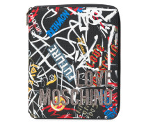 graffiti zip around purse