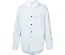 oversized hooded shirt
