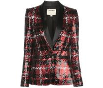 Tweed-Blazer mit Pailletten