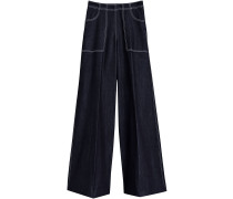 Stretch Japanese Denim Wide-leg Jeans