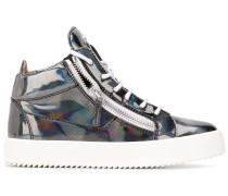 High-Top-Sneakers in Metallic-Optik