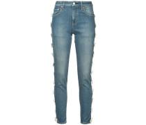 bow trim jeans short length