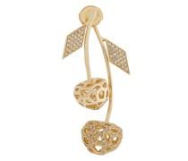 Mini 14kt Gelbgold-Kirschohrring mit Diamanten