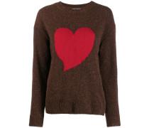 Intarsien-Pullover mit Herz