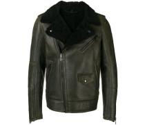 shearling-lined biker jacket