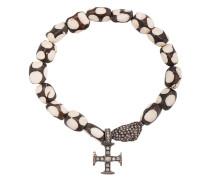 18kt Goldarmband mit Kreuzanhänger