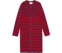 Striped cotton wool cardigan