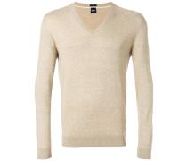 fine knit V-neck pullover