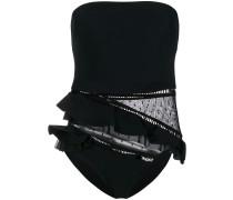 lace panel swimsuit