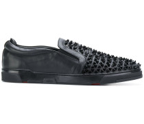 studded low top sneakers