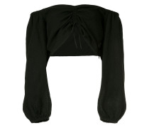 ruched front cropped top