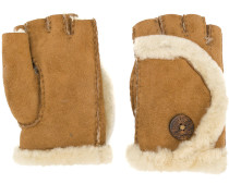 shearling finger-less gloves