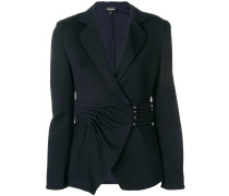 pleated waist blazer