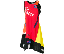 Paris Saint-Germain x  patchwork asymmetric dress