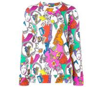 Sweatshirt mit Alphabet-Print