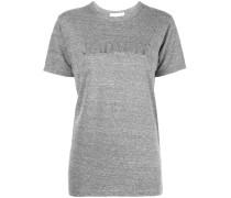 T-Shirt mit Metallic-Print