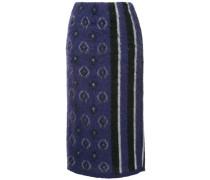 Shaggy jacquard skirt