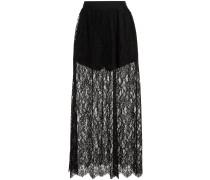 high waisted lace skirt
