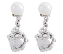 'Orb & Pearl' Sterlingsilber-Manschettenknöpfe